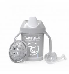 Поильник Twistshake Mini cup, цвет: серый