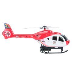 Игровой набор Игруша Транспорт Вертолет с красной машинкой