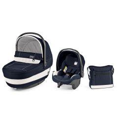 Спальный блок + автокресло Peg-Perego Modular Set Peg-Perego люлька Navetta XL/автокресло Primo Viaggio Tri-Fix/сумка Borsa, цвет: белый/синий