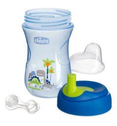 Чашка-поильник Chicco Advanced Cup с трубочкой, цвет: синий