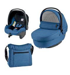 Спальный блок + автокресло Peg-Perego Modular Set Peg-Perego люлька Navetta XL/автокресло Primo Viaggio Tri-Fix/сумка Borsa, цвет: синий/черный