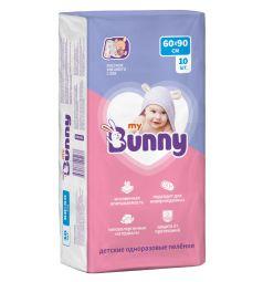 Пеленки My Bunny впитывающие одноразовые с рисунком 60х90 см, 10 шт
