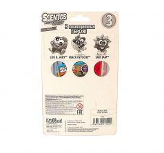 Фломастер ароматизированный Scentos 3 шт. клубника зеленое яблоко черника