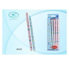 Ручка гелевая MC-Basir Кошка собачка пишет-стирает 0,5 мм синий