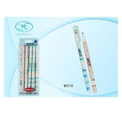 Ручка гелевая MC-Basir Белый медведь пишет-стирает 0,5 мм синий