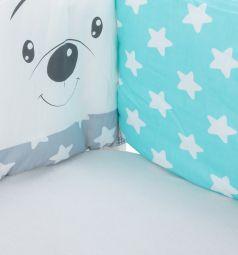 Бортик в кроватку Leader Kids Мишки, цвет: бирюзовый
