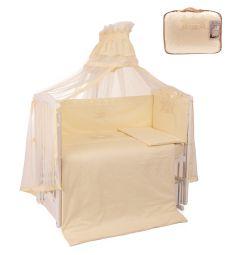 Комплект постельного белья Leader Kids Королевские сны, цвет: бежевый 7 предметов подушка 40 х 60 см