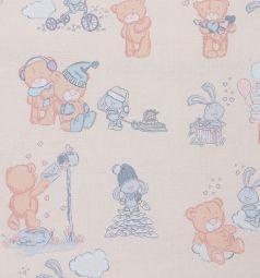 Зайка Моя Подушка Мишка с друзьями 40 х 60 см, цвет: молочный