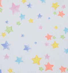 Зайка Моя Подушка Звезды разноцветные 40 х 60 см, цвет: розовый
