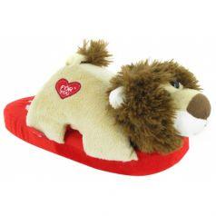 Тапочки-игрушки Forio, цвет: красный/бежевый
