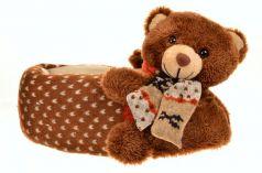Тапочки-игрушки Forio, цвет: коричневый