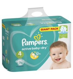 Подгузники Pampers Active Baby-Dry (9-14 кг) 76 шт.