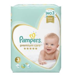 Подгузники Pampers Premium Care (6-10 кг) 74 шт.
