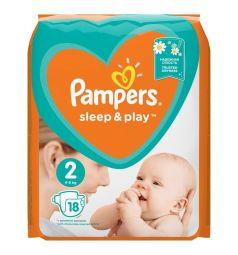 Подгузники Pampers Sleep&Play (4-8 кг) 18 шт.