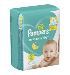 Подгузники Pampers New Baby-Dry (4-8 кг) 17 шт.