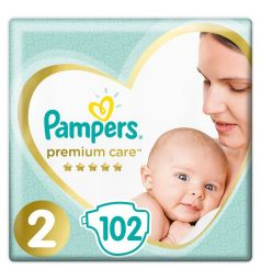 Подгузники Pampers Premium Care (4-8 кг) 102 шт.