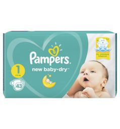 Подгузники Pampers New Baby-Dry (2-5 кг) 43 шт.