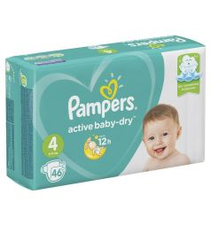 Подгузники Pampers Active Baby-Dry (9-14 кг) 46 шт.
