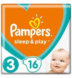 Подгузники Pampers Sleep&Play (6-10 кг) 16 шт.