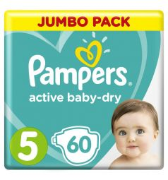 Подгузники Pampers Active Baby-Dry (11-16 кг) 60 шт.