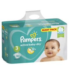 Подгузники Pampers Active Baby-Dry (6-10 кг) 90 шт.