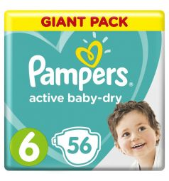 Подгузники Pampers Active Baby-Dry (13-18 кг) 56 шт.