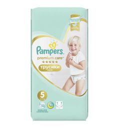 Подгузники-трусики Pampers Premium Care Pants (12-17 кг) 52 шт.