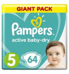 Подгузники Pampers Active Baby-Dry (11-16 кг) 64 шт.