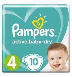 Подгузники Pampers Active Baby-Dry (9-14 кг) 10 шт.