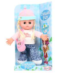 Кукла Игруша в голубой шапке 30 см