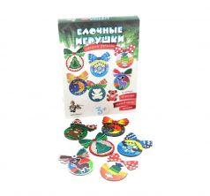 Набор для творчества Десятое Королевство Елочные игрушки своими руками (12 фигурок) (6 красок)