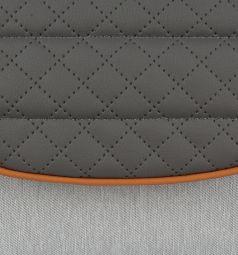 Коляска 3 в 1 Adamex Encore, цвет: темно-серый/серый