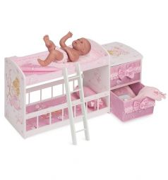 Кроватка для кукол DeCuevas Мария двухъярусная 80 см