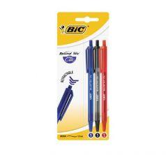 Ручка шариковая автоматическая Bic Раунд стик клик ( ) (3 шт.)