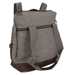 Сумка-рюкзак Inglesina для коляски Back Bag Aptica, цвет: grey melange