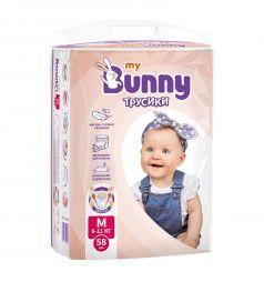 Трусики-подгузники My Bunny M (6-11 кг) 58 шт.