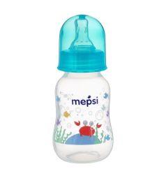 Бутылочка Mepsi для кормления полипропилен с рождения, 125 мл, цвет: бирюзовый