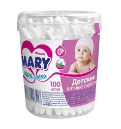 Ватные палочки Детские Mary, 100 шт