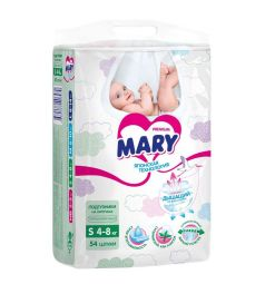 Подгузники Mary р. S (4-8 кг) 54 шт.