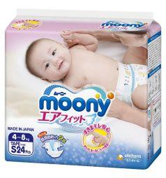 Подгузники Moony р. S (4-8 кг) 24 шт.