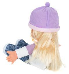 Кукла Игруша в фиолетовой шапке 30 см