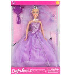 Кукла Defa Невеста в сиреневом платье 28 см