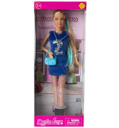 Кукла Defa Модница в синем платье 28 см