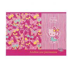 Альбом для рисования А4 Action Hello Kitty 12 листов уф-лак блёски розовый