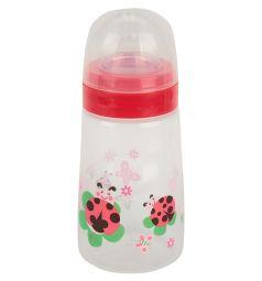 Бутылочка Бусинка для кормления полипропилен с рождения, 250 мл, цвет: красный