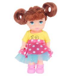 Кукла Игруша розовая юбка, желтый топ