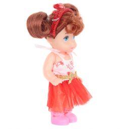 Кукла Игруша красная юбка, розовый топ
