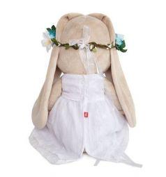 Мягкая игрушка Budi Basa Зайка Ми в белом платье и веночке 34 см