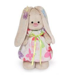 Мягкая игрушка Budi Basa Зайка Ми в летнем платье с бабочками на ушках 32 см