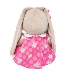 Мягкая игрушка Budi Basa Зайка Ми в розовом платье с белым воротничком 23 см
